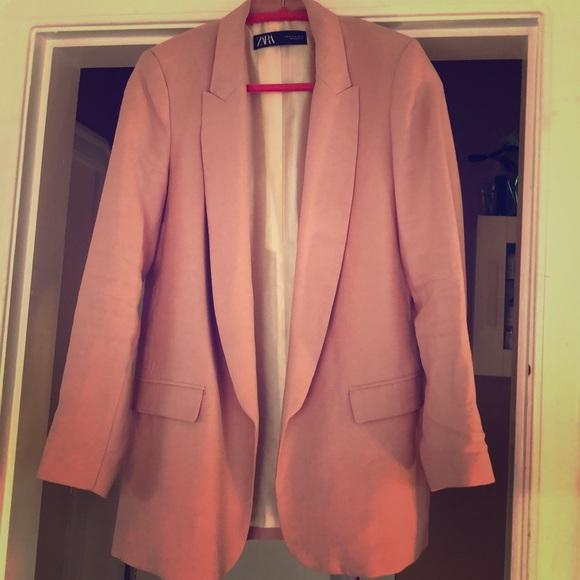 Blush pink Zara blazer size M